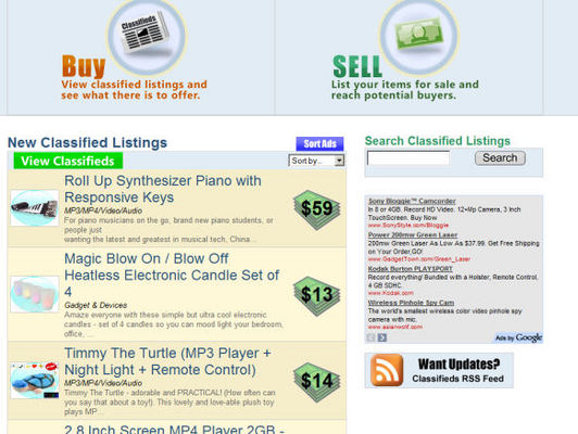 Product picture PHP Classifieds Ad Script (with Thumbnails/enlarged photos)